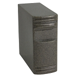 Sable Gray Cultured Marble Book Urn