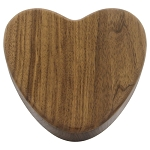 Devoted Heart Keepsake Urn Box - Walnut