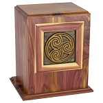 Celtic Circle Tile Cedar Urn