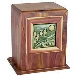 Up North Tile Cedar Urn