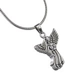 Angel Cremation Jewelry - Stainless Steel