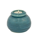 Deep Sea Ceramic Memorial Candle Urn - Round