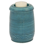 Deep Sea Tall Ceramic Memorial Candle Urn