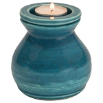 Deep Sea Ceramic Memorial Candle Urn - Vase