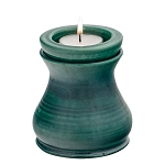 Evergreen Ceramic Memorial Candle Urn - Vase