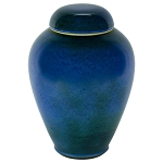 Bay Blue Ceramic Urn