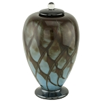 Concerto Hand Blown Glass Cremation Urn