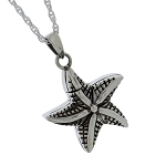 Silver Starfish Cremation Jewelry