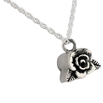 Small Rose Cremation Jewelry