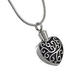 Swirl Heart Cremation Jewelry