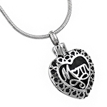 Mom Heart Cremation Jewelry Pendant