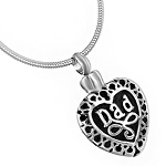 Dad Heart Cremation Jewelry Pendant