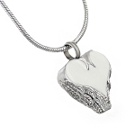 Angel Wings Heart Cremation Jewelry