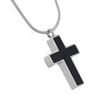 Black Cross Cremation Jewelry