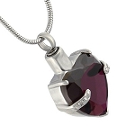 Purple Heart Gemstone Cremation Jewelry