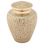 Leaves of Gold Brass Urn
