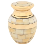 Mother of Pearl Double Band Keepsake Urn