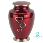 Loving Hearts Brass Urn