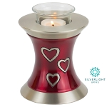 Loving Hearts Tealight Urn