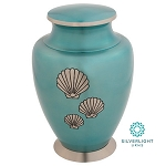 Shells Of The Sea Brass Urn