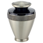 Atlas Brass Urn - Black/Pewter