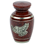 Silver Eagle Keepsake Urn - Red