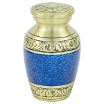 Capital Keepsake Urn - Blue/Gold