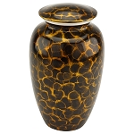Tiger Eye Aluminum Urn