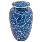 Blue Tiger Eye Aluminum Urn