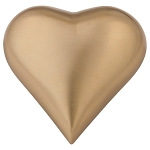 Brushed Gold Heart Keepsake Brass Urn