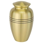 Three Bands Gold Brass Urn
