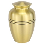 Classic Three Bands Gold Urn - Extra Large