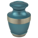 Adria Blue with Silver Keepsake Urn