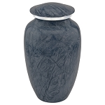 Dark Blue Harbor Aluminum Urn