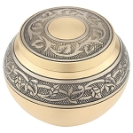 Gold Engraved Round Extra Small Urn