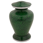 Marbled Dark Green Cremation Urn