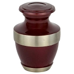 Adria Burgundy Keepsake Urn
