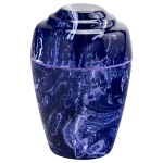 Cobalt Grecian Cultured Marble Urn - Extra Small