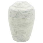 Carrera Grecian Cultured Marble Urn - Extra Small