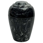 Ebony Grecian Cultured Marble Urn