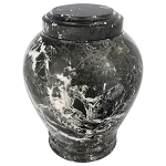 Empire Green Marble Urn