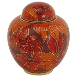 Fall Leaf Cloisonne Keepsake Urn