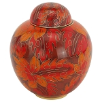 Fall Leaf Cloisonne Extra Small Urn
