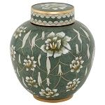 Pear Blossom Cloisonne Urn