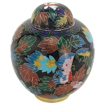Butterfly Cloisonne Urn - Extra Small
