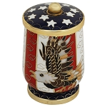 Patriotic Eagle Cloisonne Keepsake Urn
