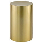 Stainless Steel Gold Cylinder Urn