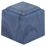 Cora Blue Cultured Marble Extra Small Urn