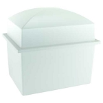 Crowne Urn Vault Double - White