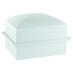 Crowne Compact Urn Vault for Box Burial - White